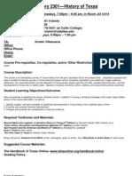 UT Dallas Syllabus for hist2301.501.11f taught by Keith Volanto (kjv062000)