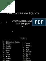 Los dioses de Egipto- Cynthia Adorno Ayala 9-1