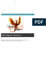 risk register version ii