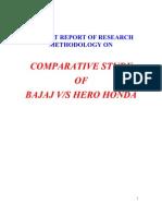 6521964 Summer Training Report on Bajaj vs Hero Honda(2)
