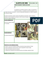 LECCIONES APRENDIDAS. ACCIDENTE DURANTE TAREAS DE IZAJE