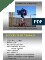 LECCIONES APRENDIDAS. INVESTIGACION ACCIDENTE VASTAGO