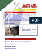 LECCIONES APRENDIDAS. INVESTIGACION ACCIDENTE CAIDA DE CARGA SORE PIE DE TRABAJADOR
