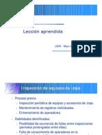 LECCIONES APRENDIDAS. EQUIPOS DE IZADO
