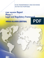Peer Review Report Phase 1 Virgin Islands (British)