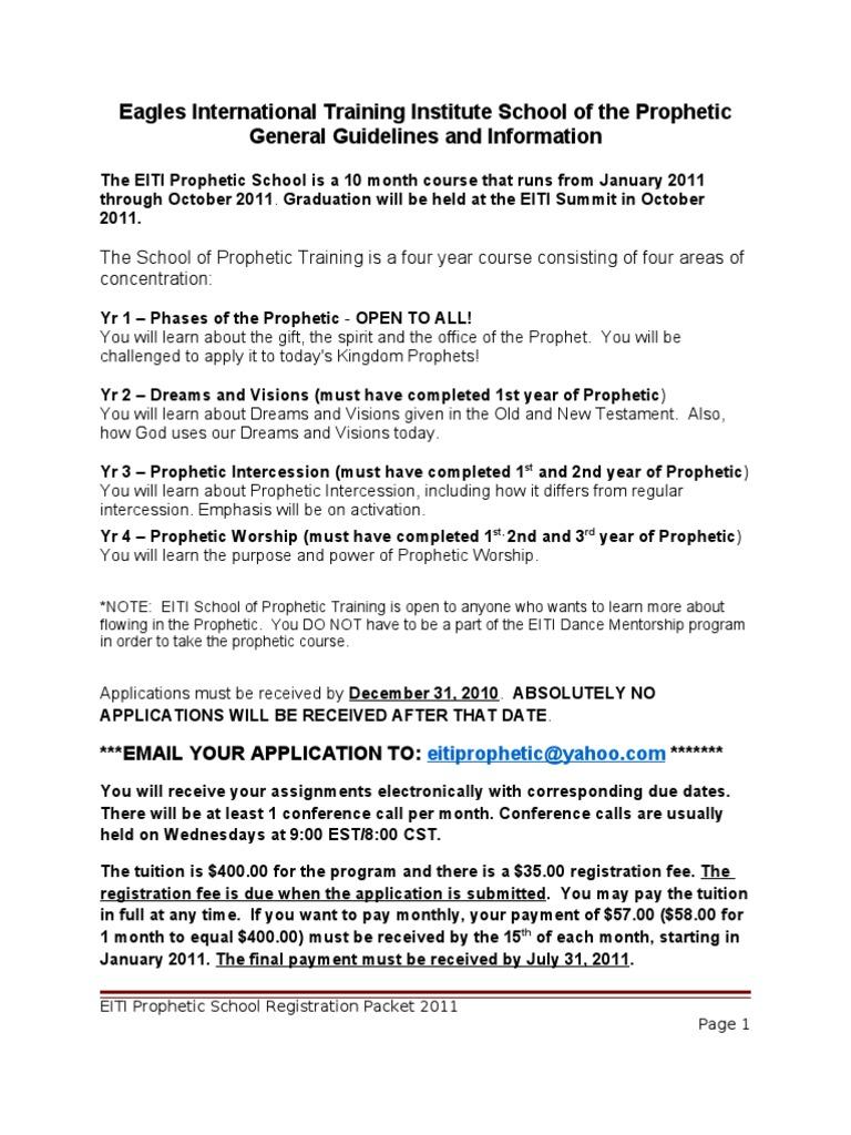 Eiti Prophetic Registration Packet 2011 - 2003 Word Document