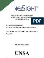 Manual MineSight Subterranea