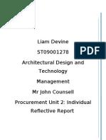 Reflective Report - Procurement Unit 2