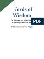 Words of Wisdom Evolution Ezine
