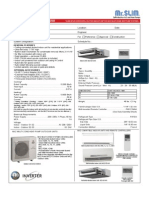 Mitsubishi SEZ-KD12NA Submittal for MXZ Multiple Indoor Unit Styles