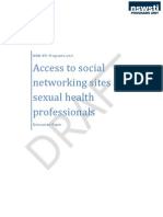 Draft Discussion Paper - Access to Social Networking Sites for Sexual Health Professionals