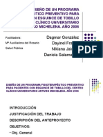 Diseño Prog. Ftp Esguince de Tobillo