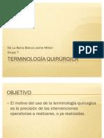 Terminología quirúrgica