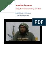 Ramadan Lessons by Sheikh Khalid Al-Husainan (may Allah Protect him) Lesson 9