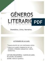 Géneros literarios ppt.