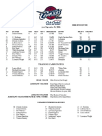 08-09 Training Camp Roster