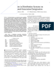 Transients in Distribution Systems on DG Energization