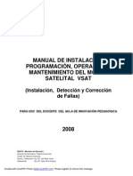 Manual Del Modem Satelital Vsat Version 03-A-2008 Para Uso General