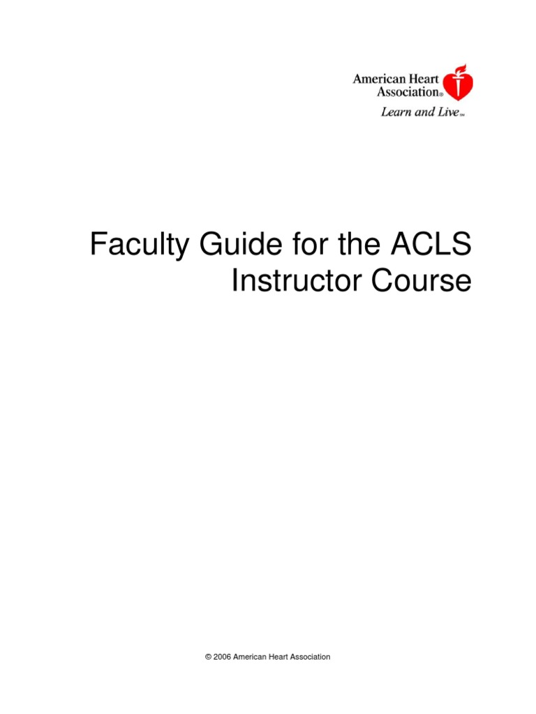 Faculty Guide for ACLS Instructor Course [PDF Library ...
