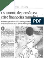 Fundos de pensão e a crise financeira