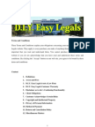 Easy Legals Terms and Conditions 2011