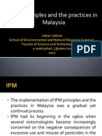 IPM Principles and the Practices in Malaysia