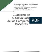 Cuaderno de autoevaluació de competencias docentes agosto de