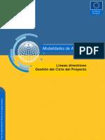 MAnual Cooperacion y Marco Logico Comisión Europea
