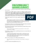 Que Dice La Biblia Sobre El Aborto