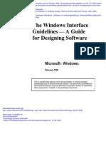 Microsoft Windows Guidelines