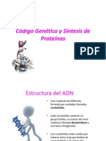 Tema #9.2 Codigo Genetico y Sintesis de Proteinas