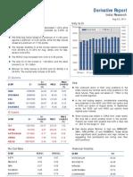 Derivatives Report 23rd August 2011