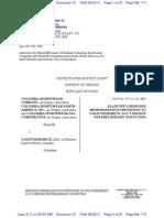 Columbia Response to Moretz Motion Preliminary Injunction