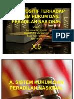 Sikap Positif Terhadap Sistem Hukum Dan Peradilan Nasional