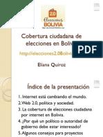 Cobertura Ciudadana de Elecciones Bolivia 2010 - Eliana-Quiroz