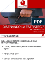 Disenando La Estrategia Electoral - Carlos Lorenzana