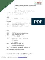 Procedure for File Transfer ToCMRI Delete the Old SW