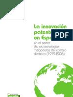 La innovación patentada en España en el Sector de las Tecnologías mitigadoras del cambio climático 1979-2008