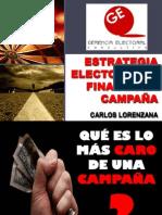 Estrategia Electoral al final de la Campaña - Carlos-Lorenzana