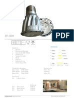 Lampe Spot LED 4x2w E27 1206 Hexagone Innovation