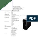 Especificaciones PC Sobremesa ASUS