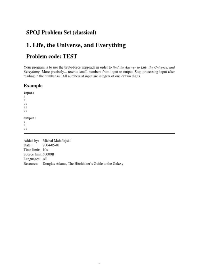 SPOJ Classical | Subject (Grammar) | Verb