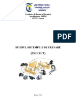 Studiul Sistemului de Franare