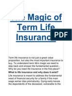 The Magic of Term Life Insurance