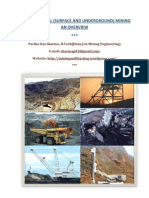 Coal and Metal (Surface and Underground) Mining - An Overview