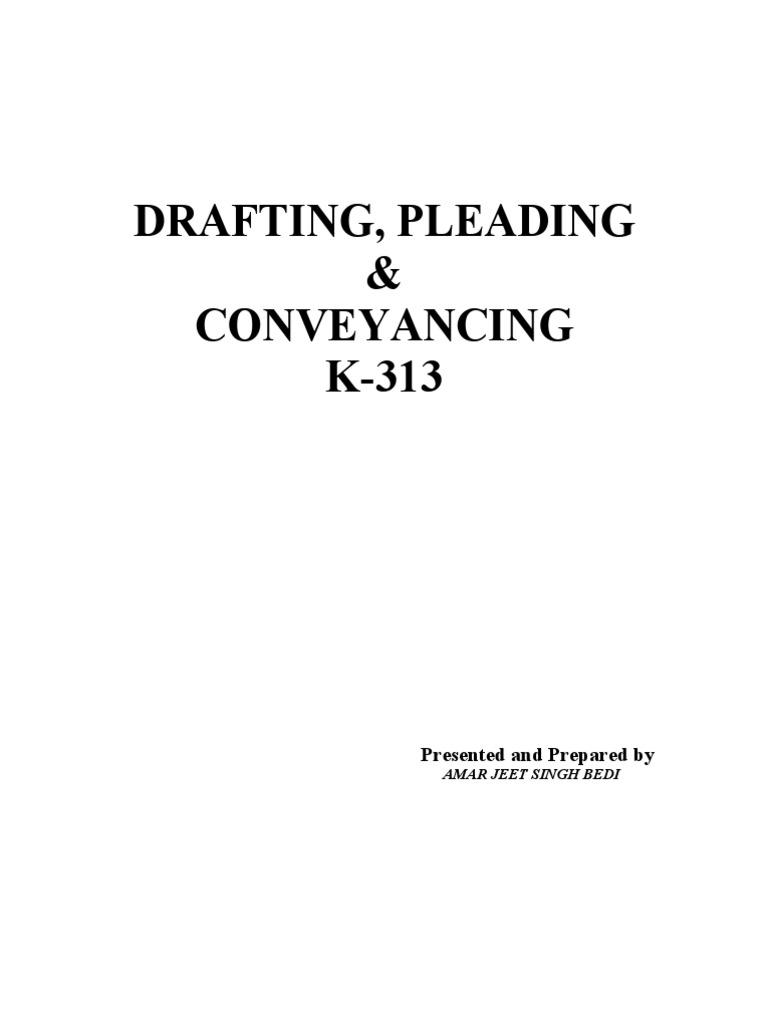 drafting and pleading pdf