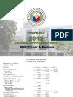 DND-OPA - 2012 NEP Budget DND Proper & Bureaus