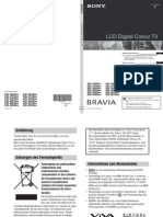 Sony LCD-TV KDL Bedienungsanleitung