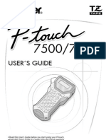 Brother P Touch 7600 User Guide