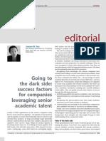 Dark Side of Managing Senior Talent